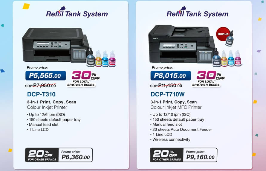 Get Up To 30% Discount with Brother Switch to Tank Printer Promo