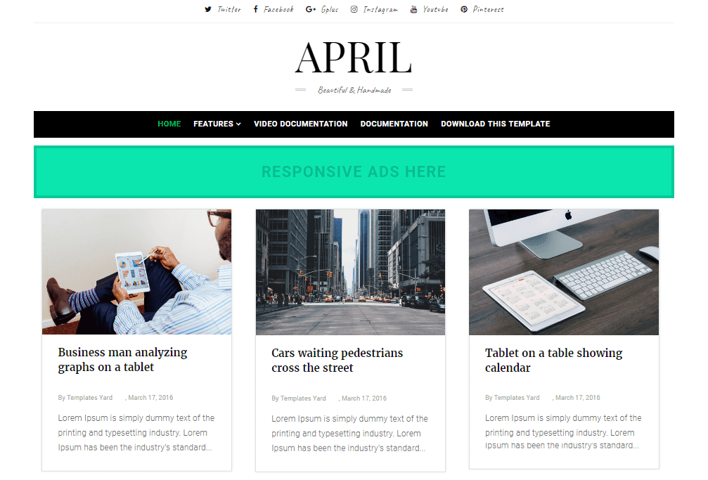 How To Setup April Blogger Template Templatesyard Sora Blogging Tips
