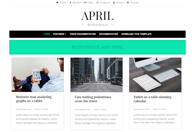 April Grid Blogger Template