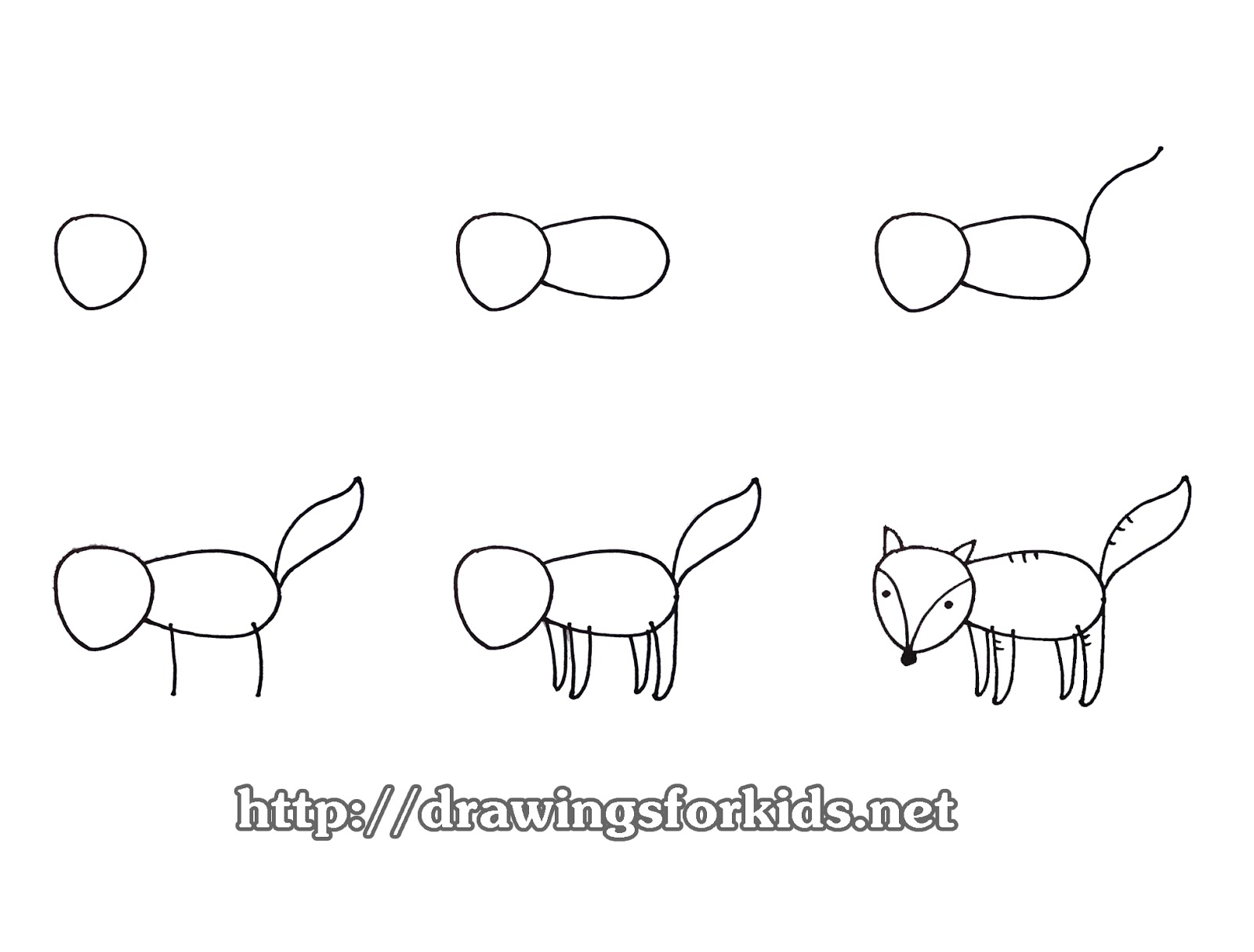 How To Draw A Fox For Kids Drawingsforkids Net