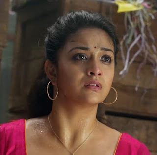 Keerthy Suresh in Pink Dress with Cute Expressions in Saamy Square 1