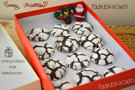 Easy Chocolate Crinkle Cookies With Cake Mix