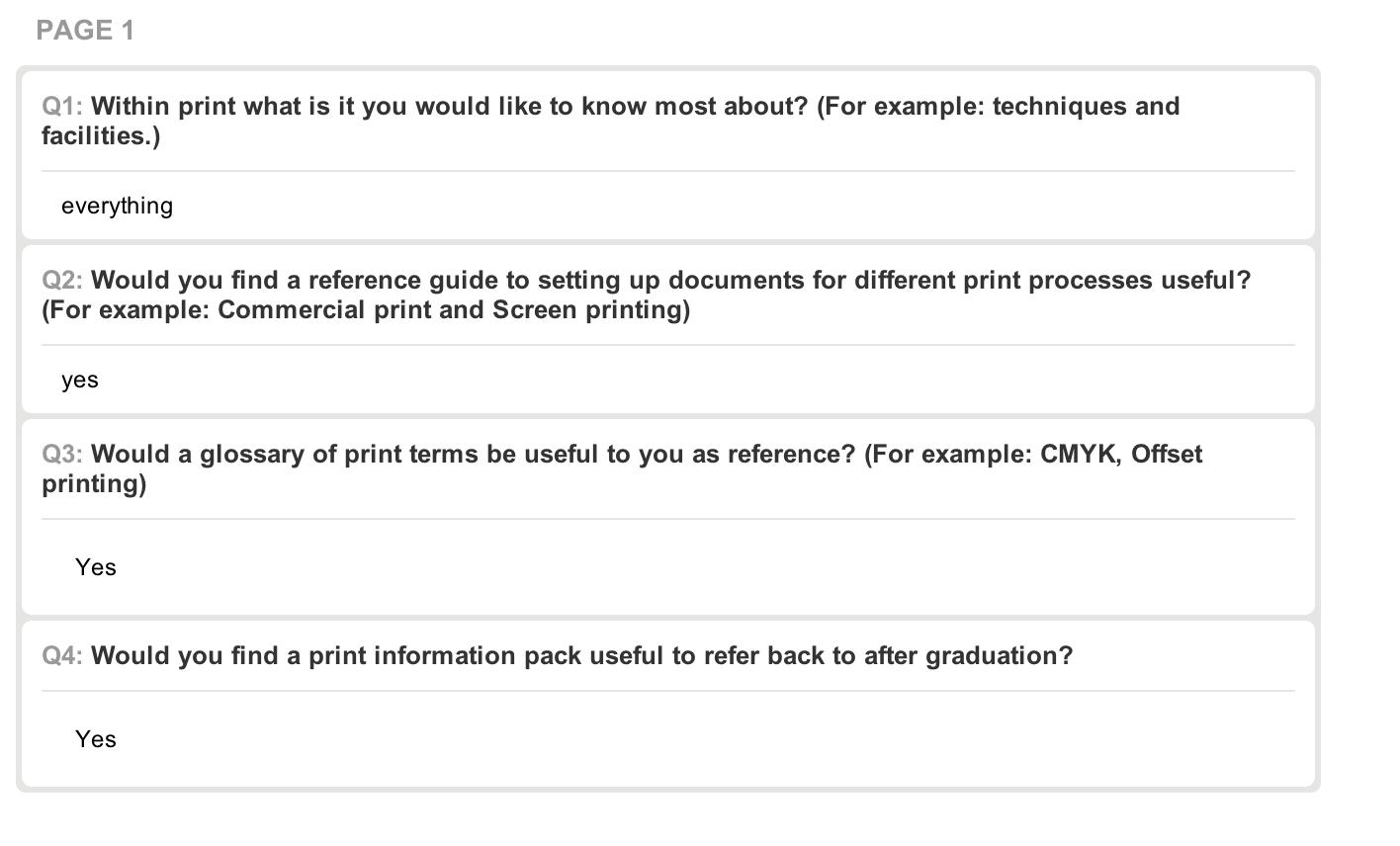 Design Context Design For Print Survey