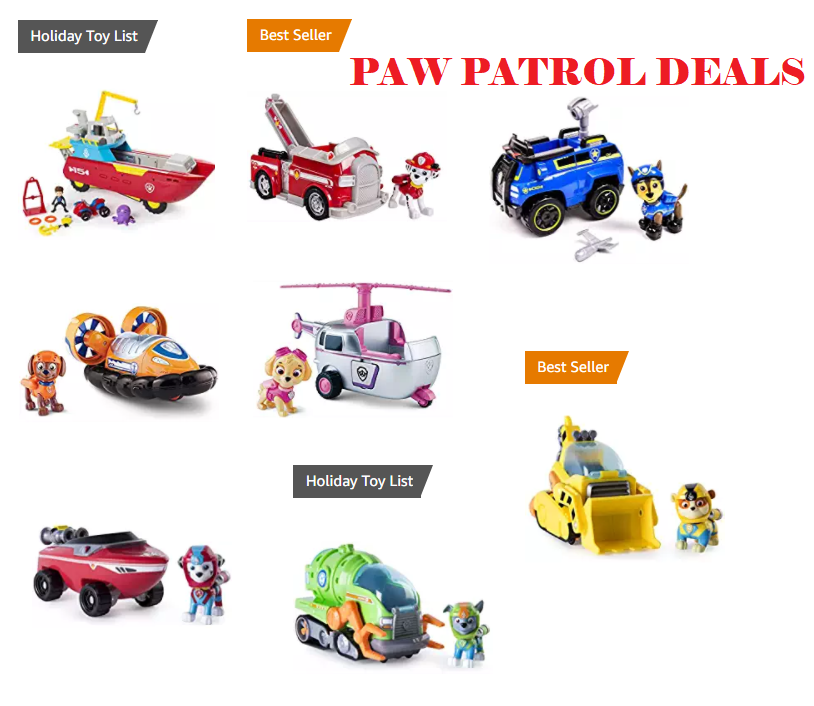 Paw Patrol Toys 10 To 80 Off On Amazon Deals And To Dos