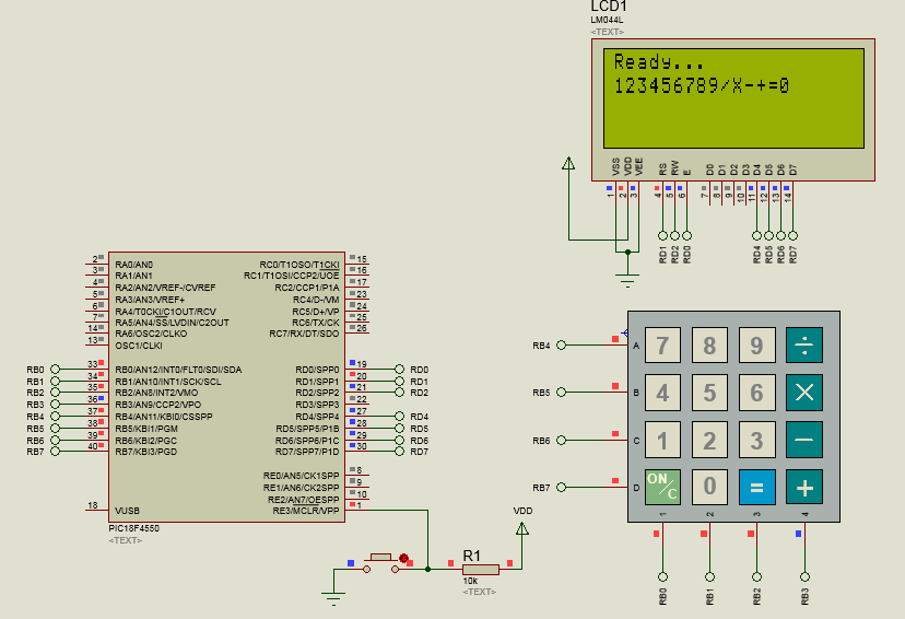 Electrical And Electronic Engineering  Example Of Keypad