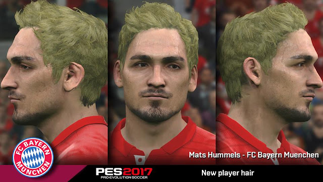PES 2017 Mats Hummels update new hair by Lastio