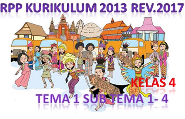 RPP Kurikulum 2013 Kelas 4 SD Tema 1 Subtema 1-4 Tahun Pelajaran 2018/2019