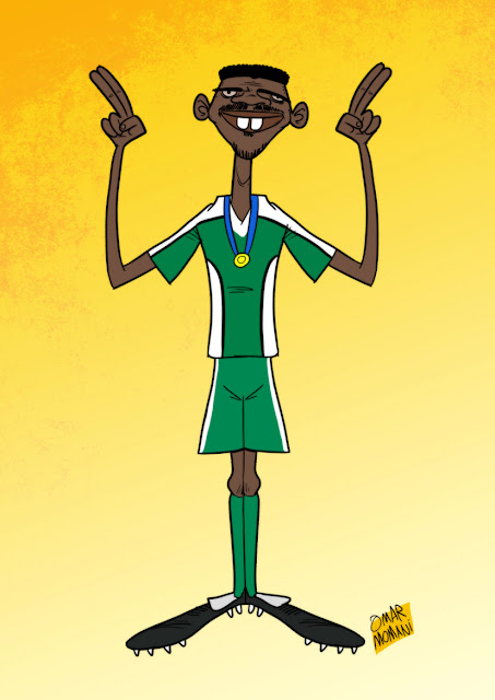 Nwankwo Kanu cartoon caricature