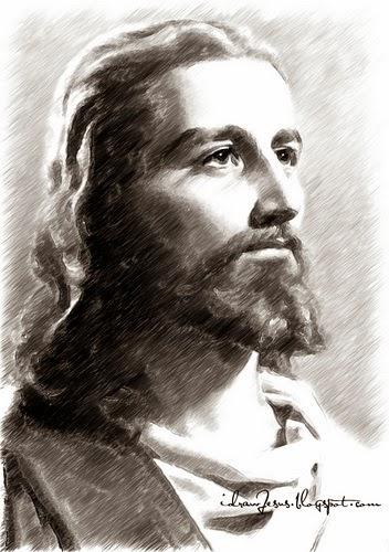 jesus christ: jesus christ sketch  jesus christ: j...