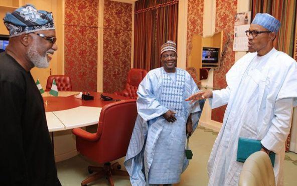 Buhari Meets APC Candidate For Ondo, Rotimi Akeredolu