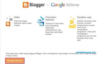 Daftar Google Adsense Melalui Blogspot