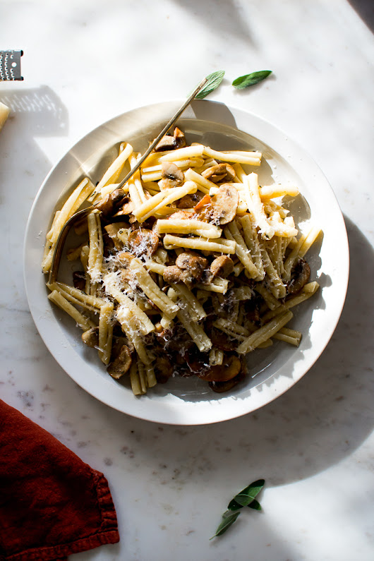 Brown Butter, Sage, and Mushroom Pasta