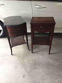 Vintage nightstands before