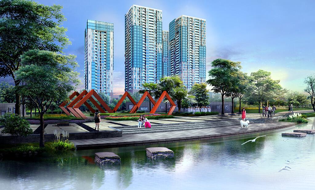 Phối cảnh dự án chung cư Goldlight Complex City 168 Khuất Duy Tiến
