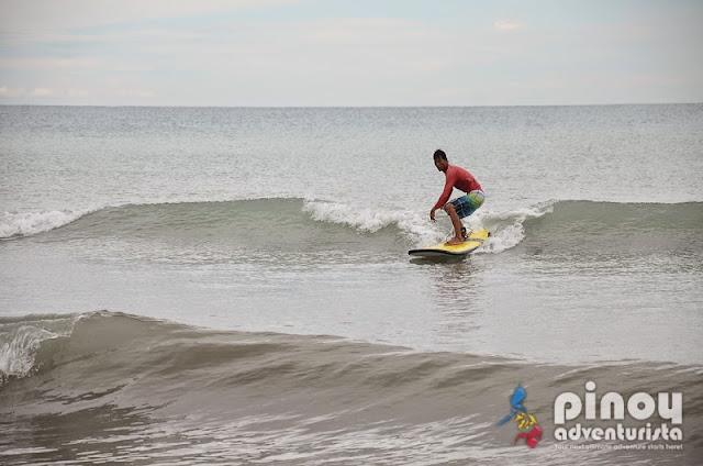Surfing at Crystal Beach San Narciso Zambales