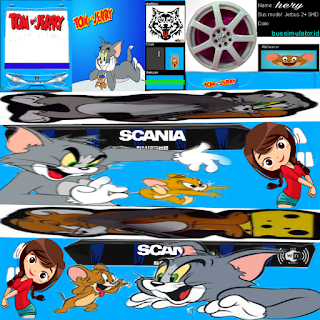 Download Livery Bus Tom & Jerry