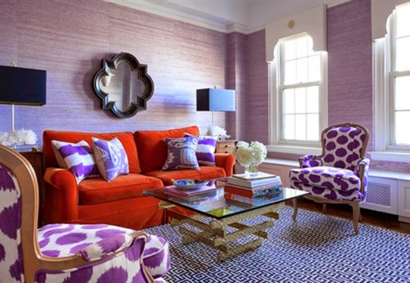 Lavender Living Room Home Priority Cheerful Living Room Nuance In Colorful Look