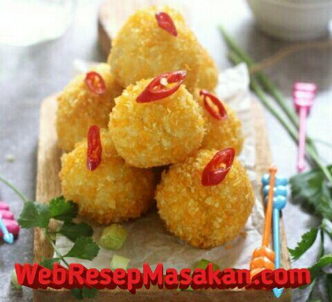 Bola bola nasi isi ayam, Resep Bola Bola Nasi, Cara membuat bola nasi isi ayam,