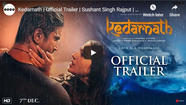 Entertainment News - Kedarnath Official Trailer Sushant Singh Rajput Sara Ali Khan Abhishek Kapoor 7th December