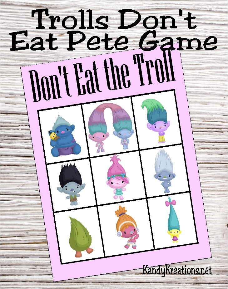 photograph relating to Don't Eat Pete Printable titled Do-it-yourself Celebration Mother: Troll Dont Take in Pete Match