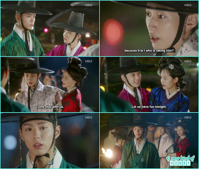 crown prince leave ra on and yoon sung with the ginseng - Love in The Moonlight - Episode 6 Review