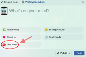 Cara Live Streaming Video di Facebook Melalui Komputer