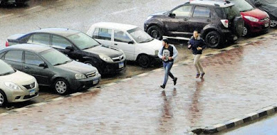 الأمطار أغرقت شوارع الإسكندرية