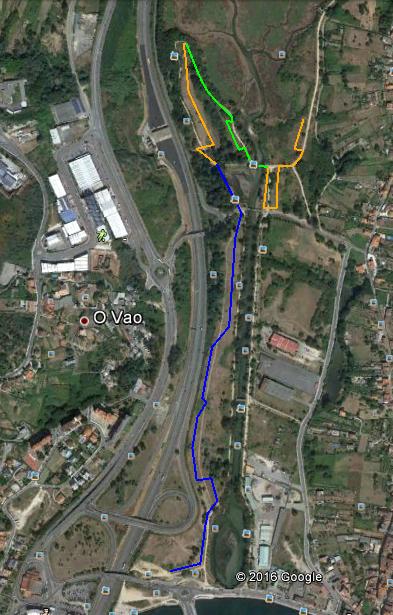 El transecto de A Xunqueira de Alba en Pontevedra