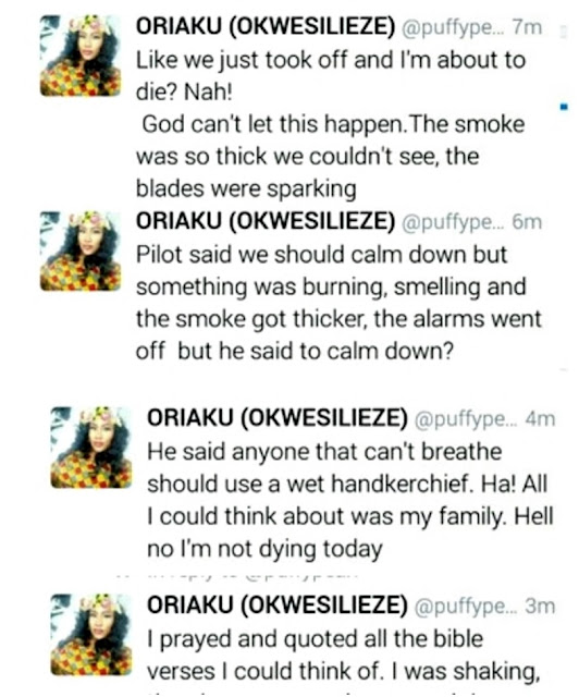 (Photos+Video)..Lady Narrates How Major Plane Crash was Averted When an Aero Airplane Caught Fire Midair from PH to Lagos