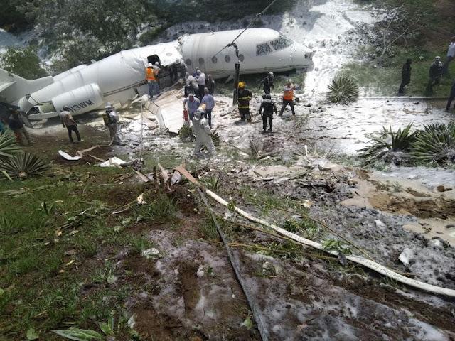 Accidente de Avión en Aeropuerto Toncontín en Honduras deja Varios Heridos