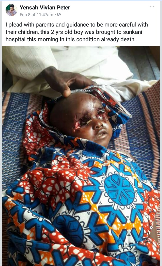 Photo: Suspected ritualists kill 2-year-old boy in Taraba State, gouge out his eyes and dumped body along the road