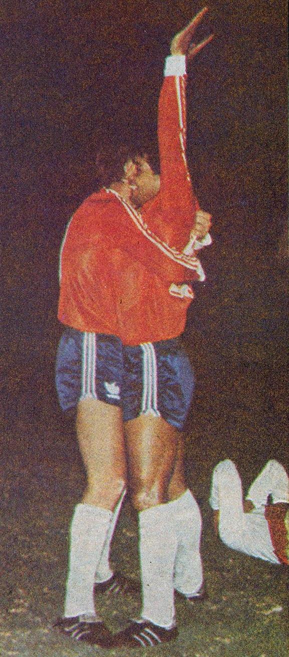 Chile y Perú en partido amistoso, 25 de julio de 1989