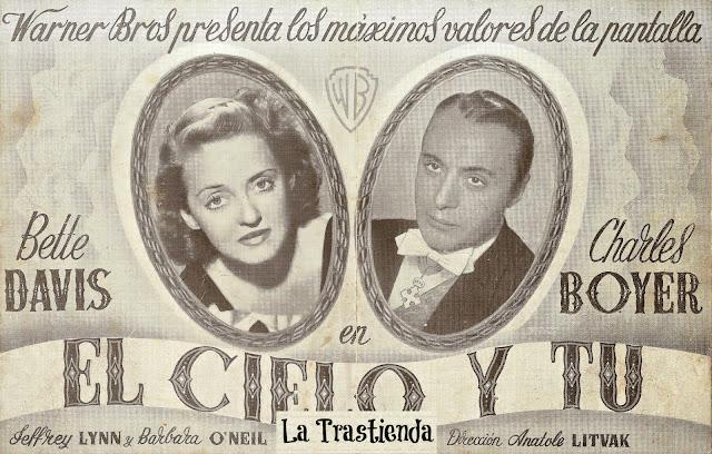 Programa de Cine - El Cielo y Tú (Doble) - Bette Davis - Charles Boyer