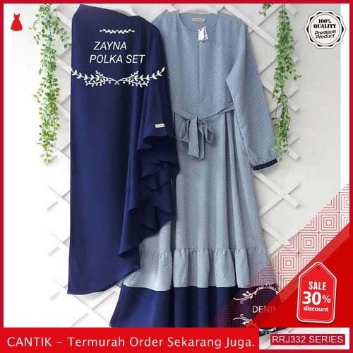 Jual RRJ332D179 Dress Muslim Zayna Wanita Polka Set Mc BMGShop