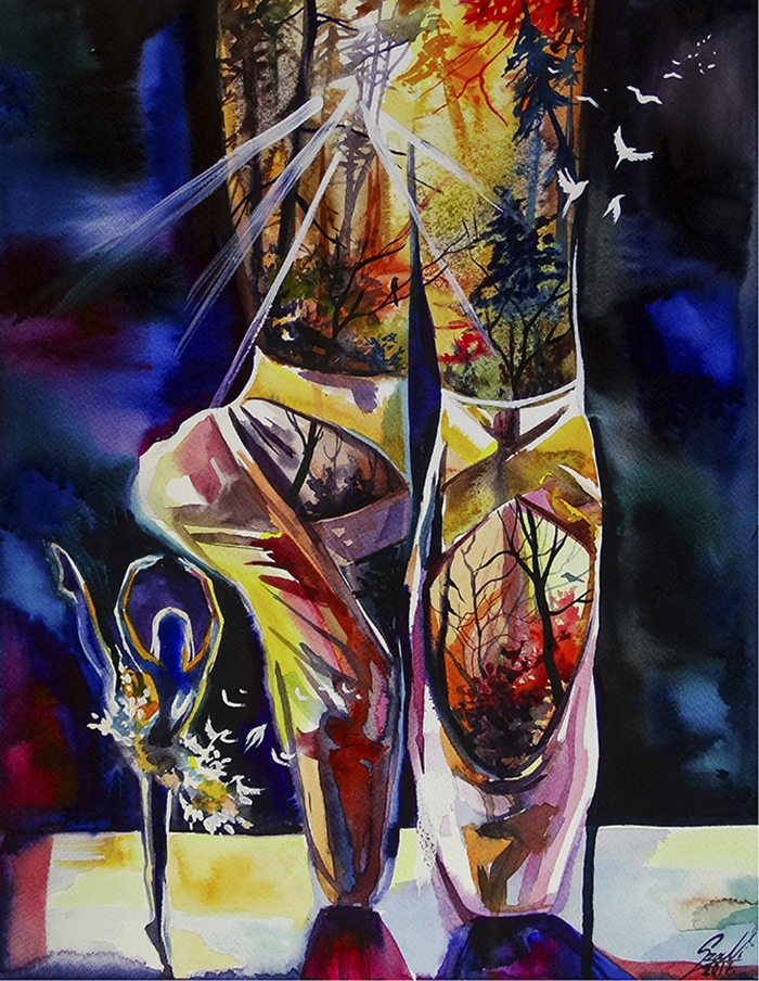 06-Shoes-Of-Sunshine-Vivien-Szaniszlo-Movement-Captured-with-the-Dancing-Ballerina-Paintings-www-designstack-co