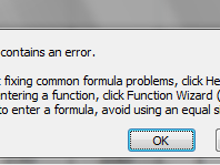 Mengatasi The Formula You Typed Contains an Error