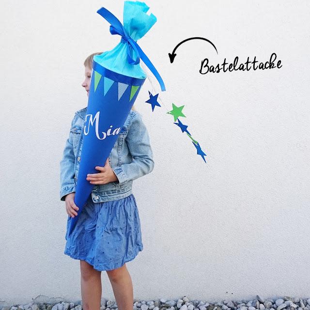 Schultüte - DIY - Schulanfang - Schulkind - Schultüte basteln - Schulkind - Einschulung - whatalovelyday
