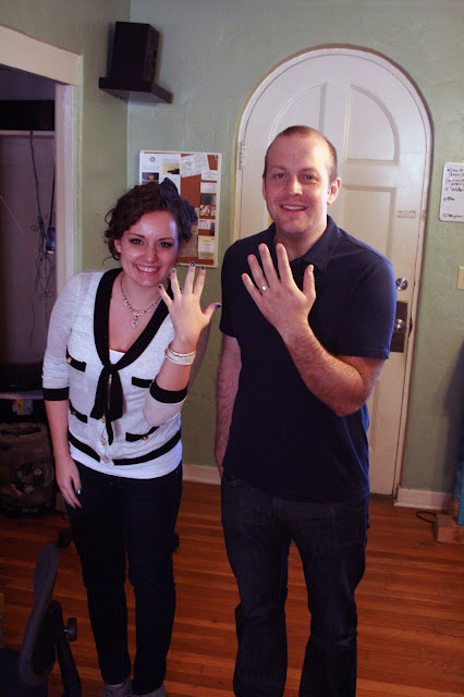 Kristen and Kevin with their finished wedding bands
