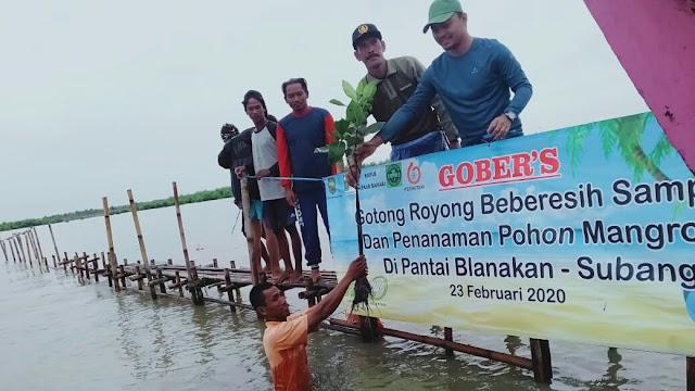 Jaga Lingkungan Pantai Blanakan, KKPLB Lakukan Aksi GOBER'S