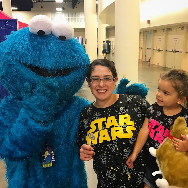 Cookie Monster with Leia and I