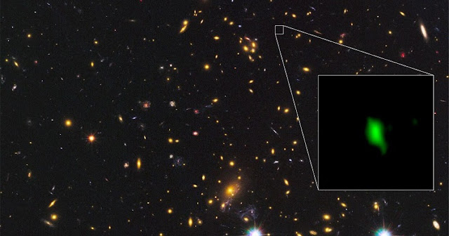 alma finds most distant oxygen in the universe