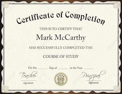Award Certificate For Completion Of Course Templates Bgtyq