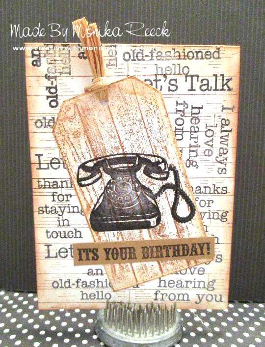 Creative With Monika An Old Fashioned Manly Birthday Card And A Fun
