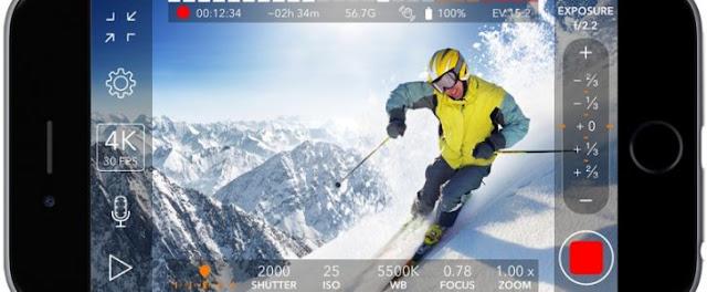 تطبيق ProMovie Recorder لتصوير الفيديو بدقة 4K للايفون وتعديله