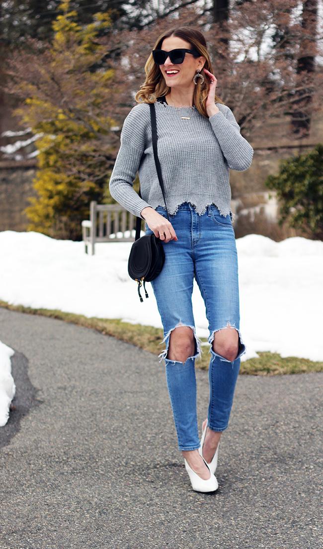 Deep V Back Sweater #springoutfit