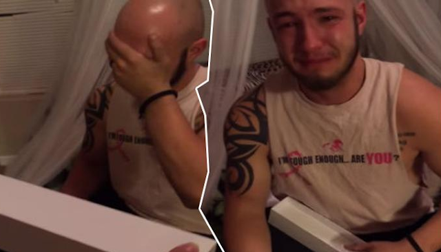 Lelaki Ini Diberikan Kado Ulang Tahun Oleh Sang Istri, Isinya Bikin Menitikan Air Mata