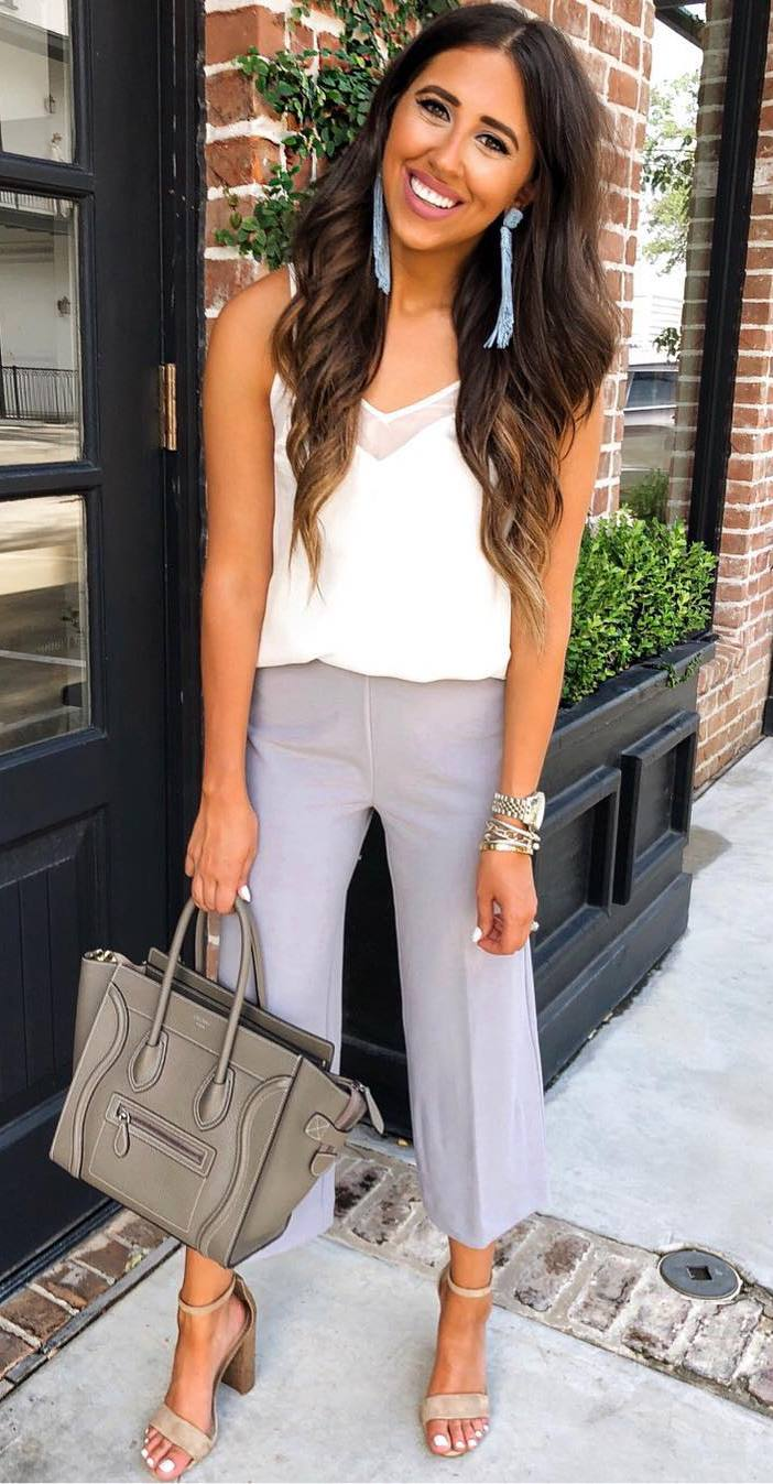 cute summer outfit idea that to wear for work