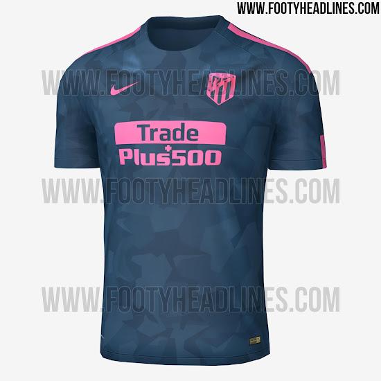 Diseño sorprendente para la tercera camiseta del Atleti 17 18 dc7eb13576050