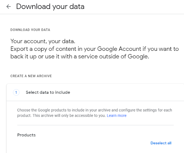 Recover deleted data from Google or Gmail account. Gmail account or Google account data download.