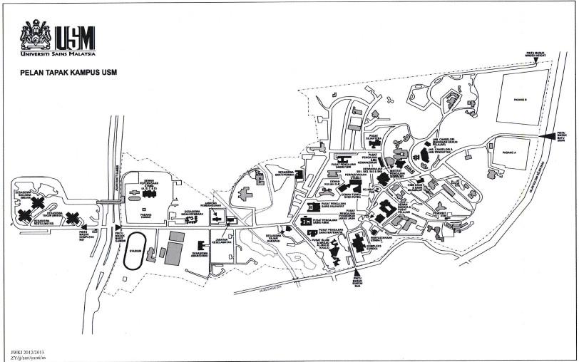 Map USM Pulau Pinang